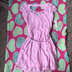 Laced cute pink dress